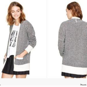 Talula Lenox Open Long Cardigan Knit Sweater Small